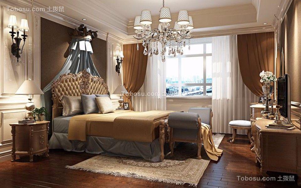欧式风格136平米三室两厅新房装修效果图