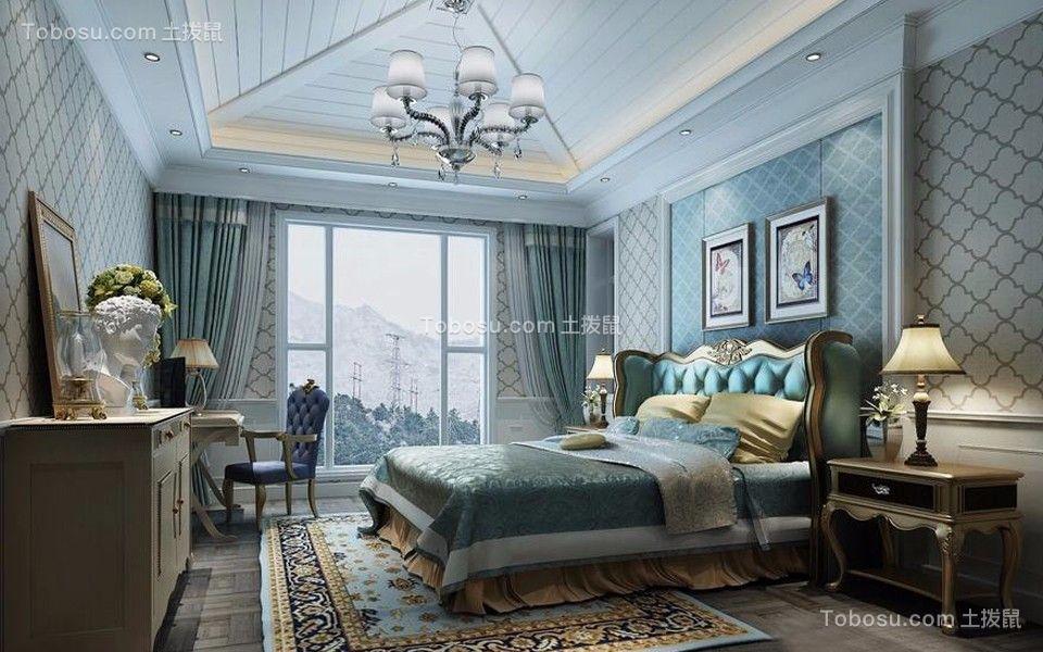 欧式风格112平米三室两厅新房装修效果图
