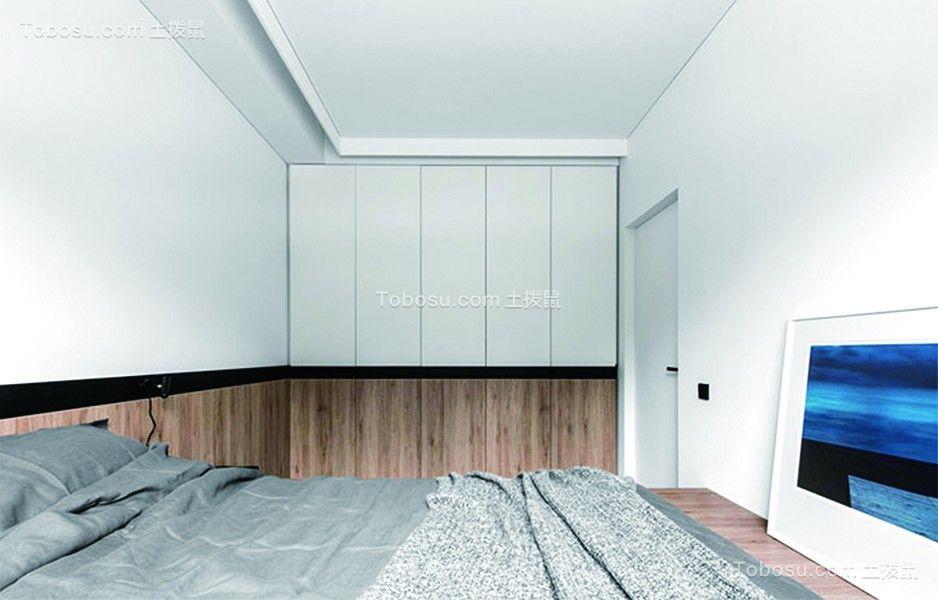 80平简约黑色系住宅二居室装修效果图