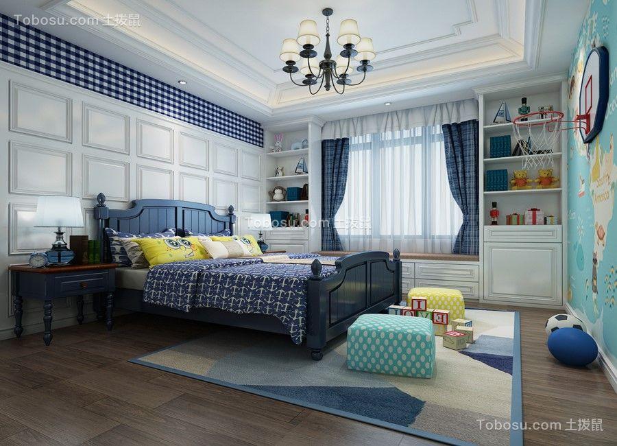 卧室 飘窗_美式风格238平米复式新房装修效果图