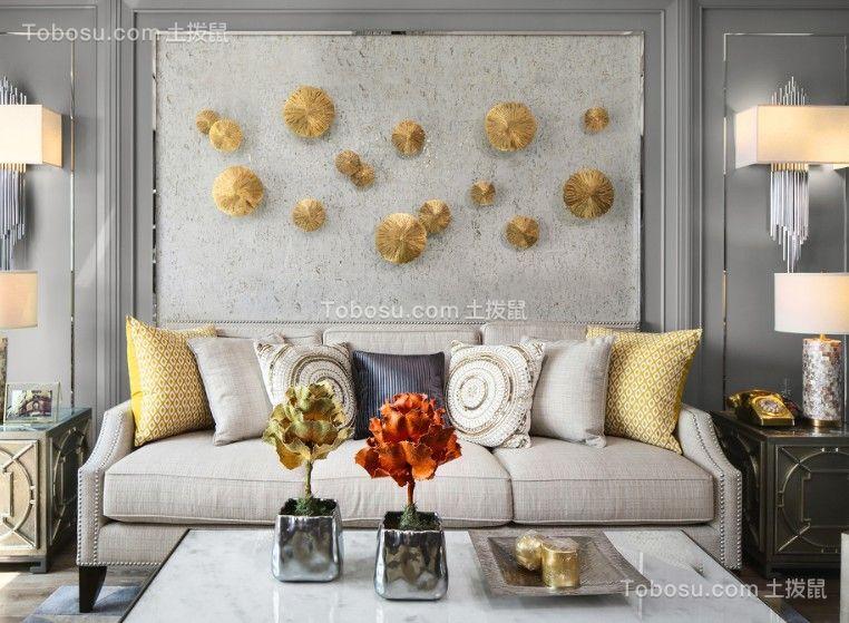 简欧风格80平米两室一厅新房装修效果图图片