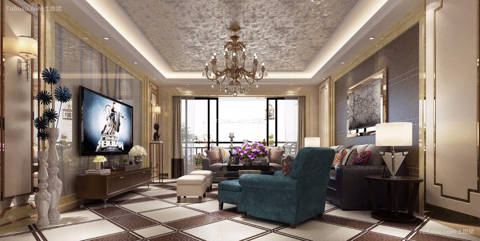 后现代风格190平米套房室内装修效果图