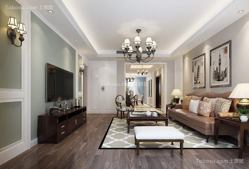 现代简约风格122平米三室两厅新房装修效果图