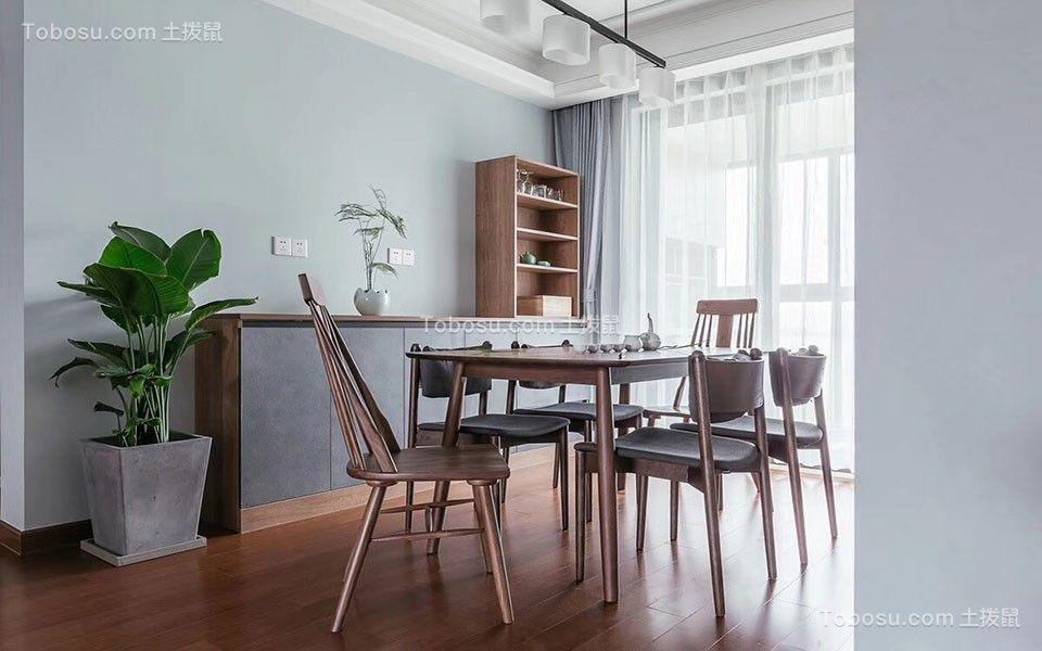 北欧110平套房室内装修效果图