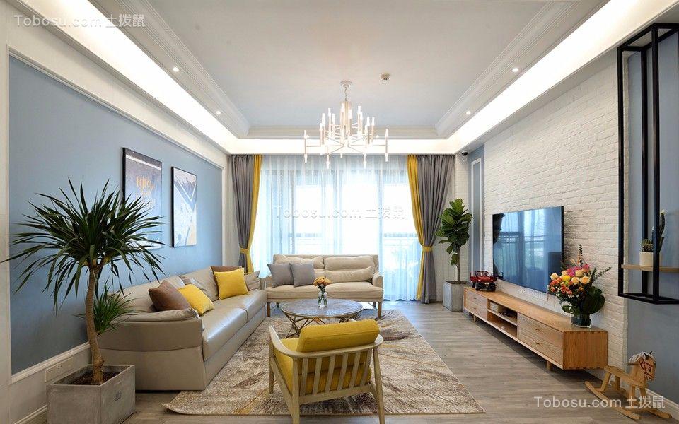欧洲城100平方北欧风格三居室装修效果图