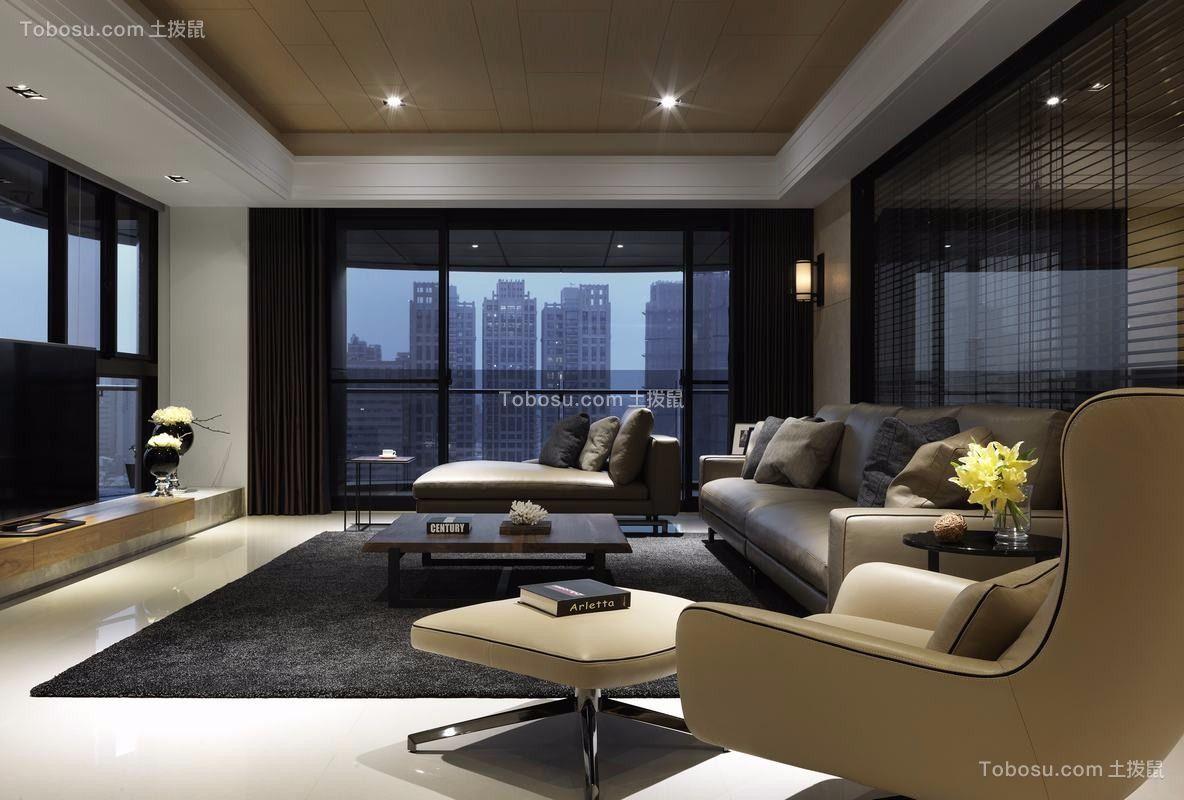 现代客厅窗帘装修设计