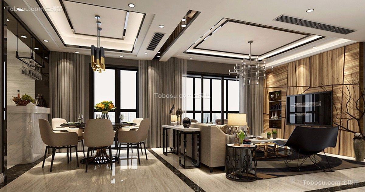 现代风格150平米三室两厅新家装修效果图