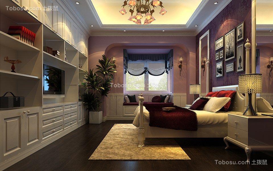 卧室 照片墙_美式风格140平米复式新房装修效果图