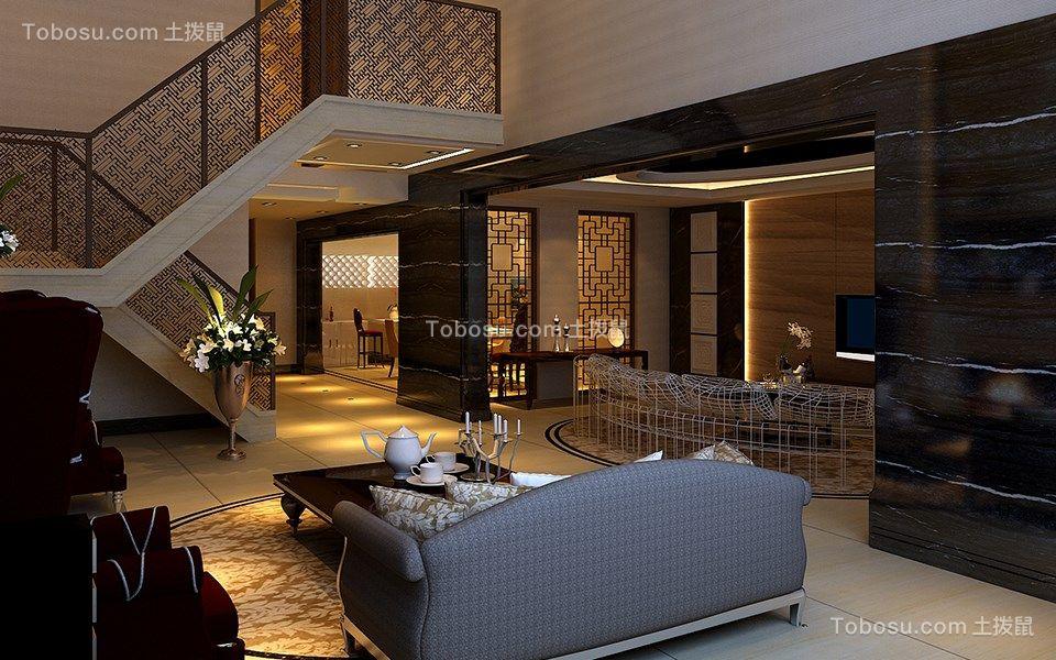 混搭风格120平米三室两厅新房装修效果图