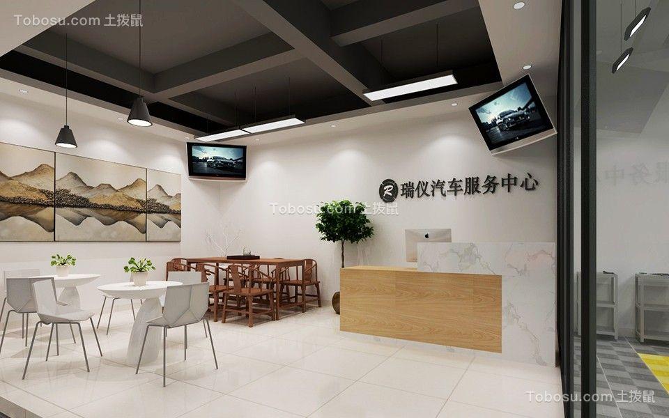250㎡现代风汽车美容店u乐娱乐平台优乐娱乐官网欢迎您