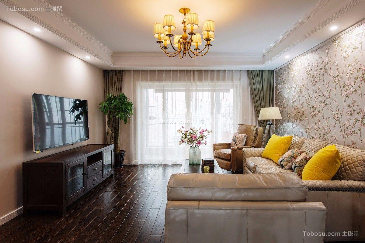 美式风格130平米套房室内装修效果图
