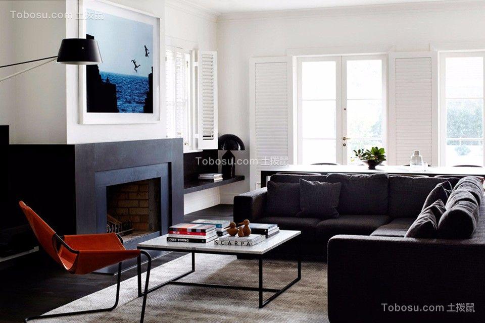 白色系北欧风格84平2居室装修效果图