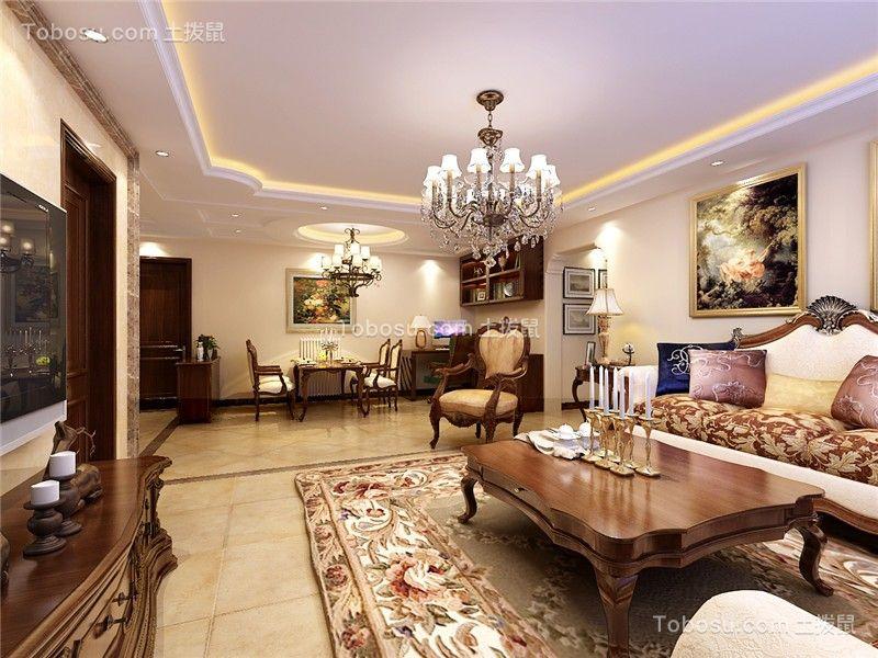 合肥海亮兰郡127平美式风格三居室装修案例