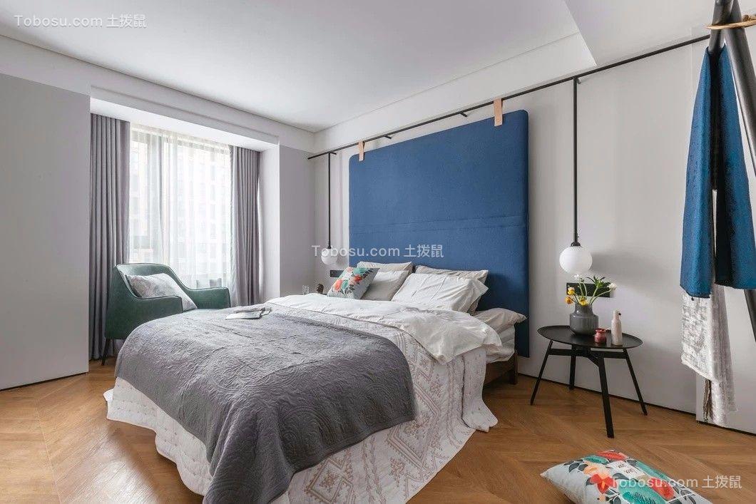 卧室灰色窗帘简约风格效果图