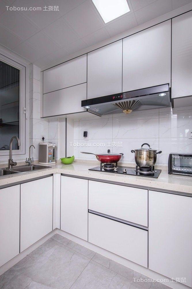 厨房白色背景墙现代简约风格装饰效果图