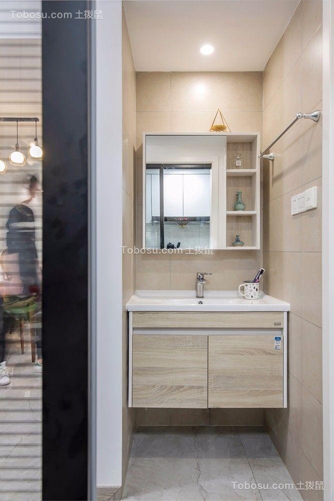 卫生间黄色洗漱台现代简约风格装修图片