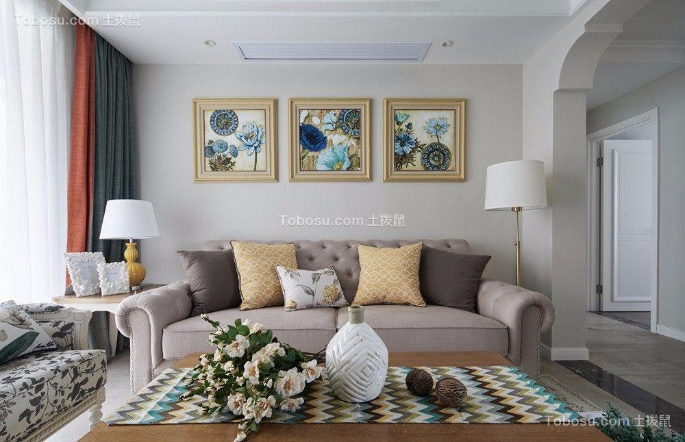 客厅窗帘美式装饰实景图片