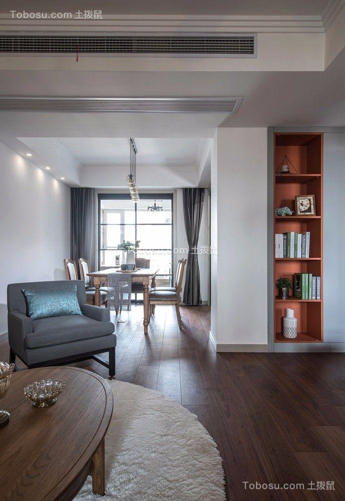 客厅白色背景墙现代风格装修效果图