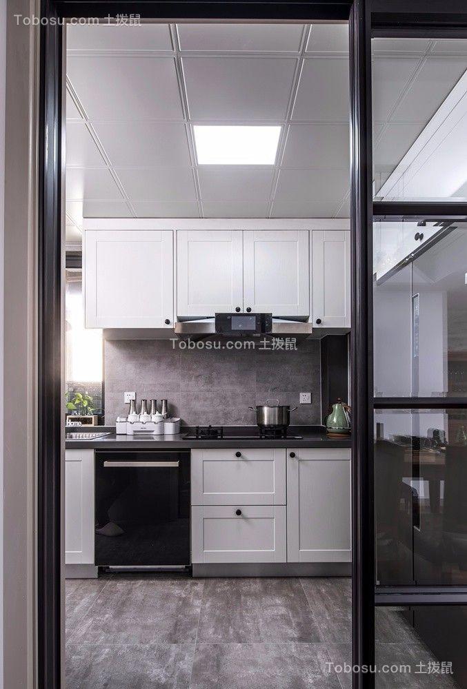 厨房白色背景墙现代风格装潢效果图