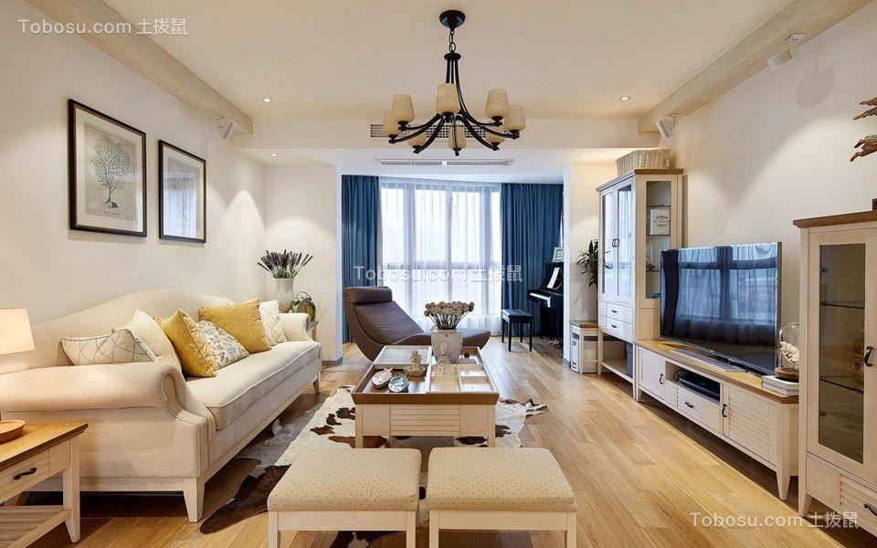 客厅白色沙发地中海风格装饰图片