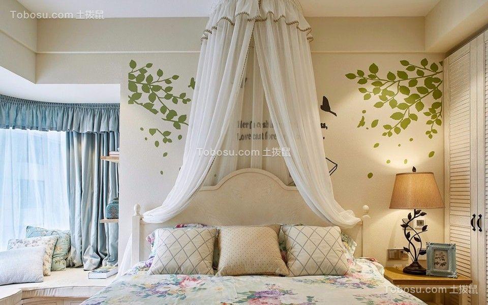 2018地中海卧室装修设计图片 2018地中海窗帘装修效果图片