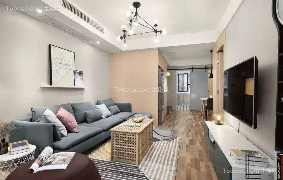 北欧风格96平米三室两厅新房装修效果图