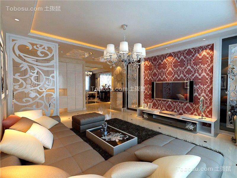 合肥蜀鑫雅苑127平欧式风格四居室装修案例