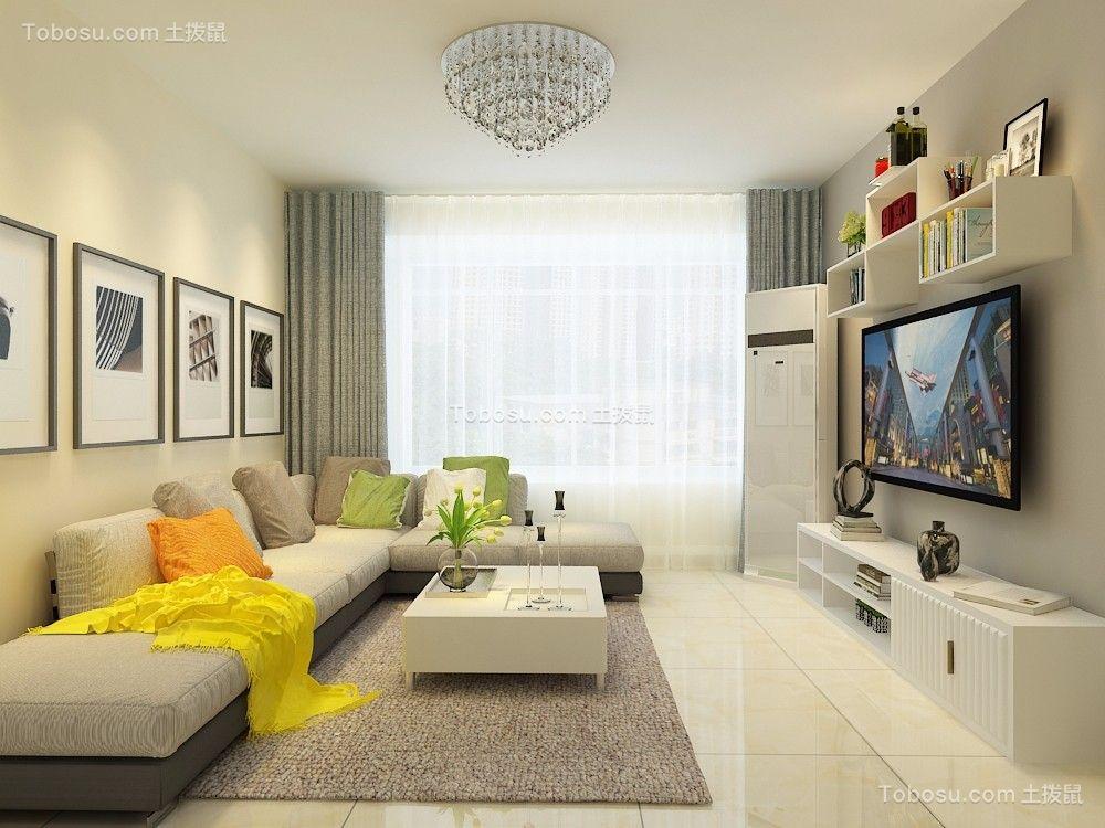 福景佳苑126平简约风格三居室装修效果图