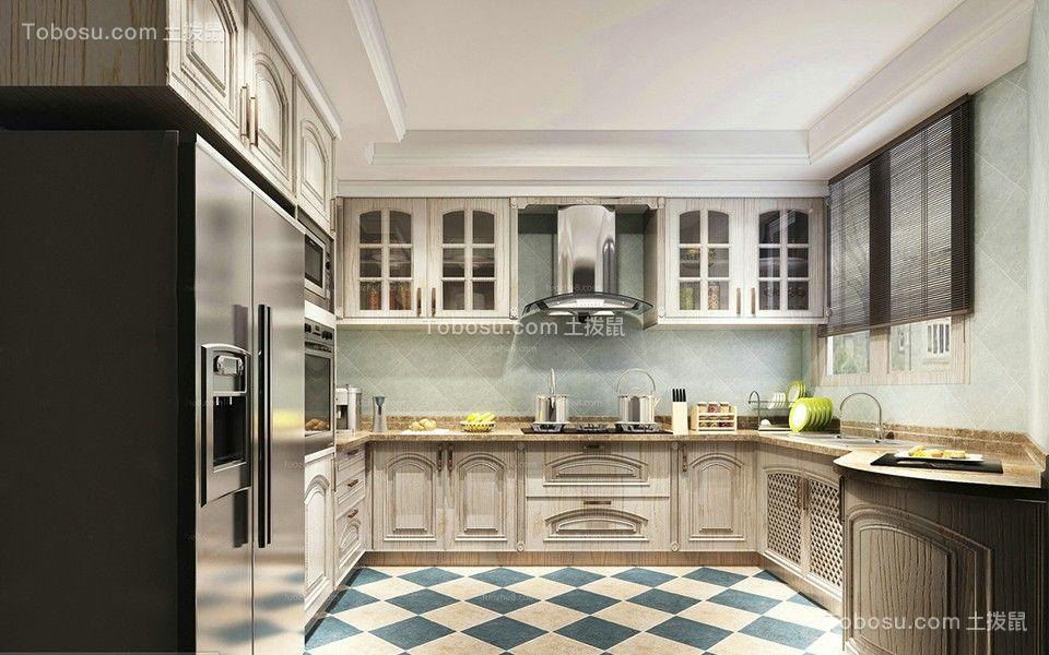 厨房 地砖_美式风格170平米套房室内装修效果图