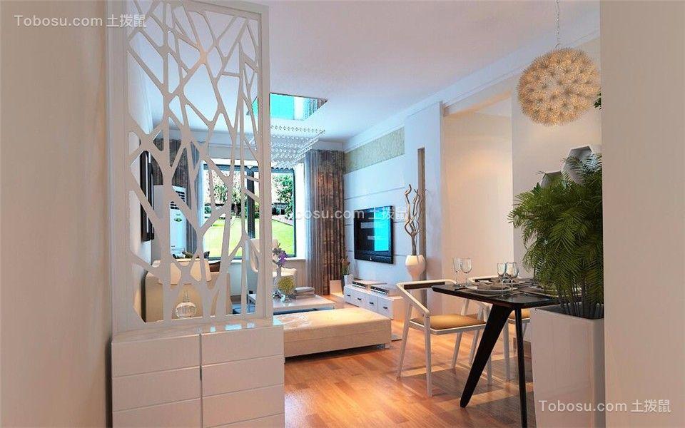 起居室黑色隔断现代简约风格装潢图片