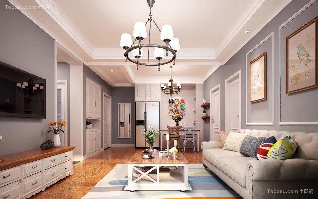 印象物语90平美式二居室装修效果图