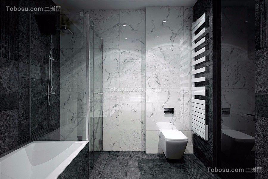 浴室白色浴缸现代简约风格装潢图片