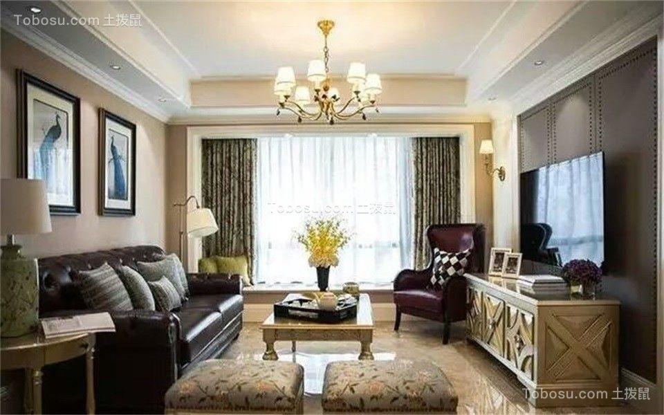 135平米现代风格三居室装修效果图