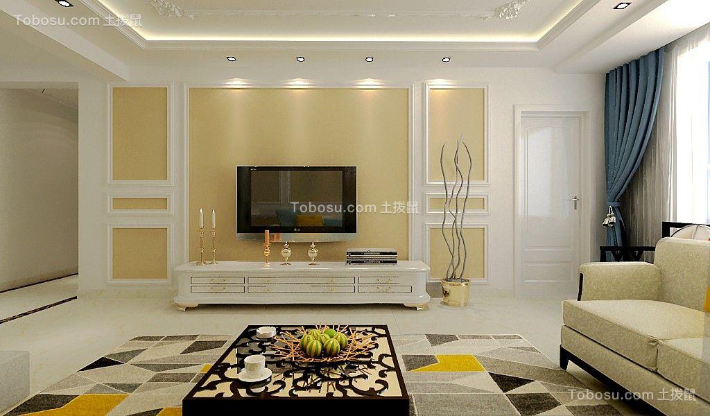 2019现代简约客厅装修设计 2019现代简约电视柜效果图