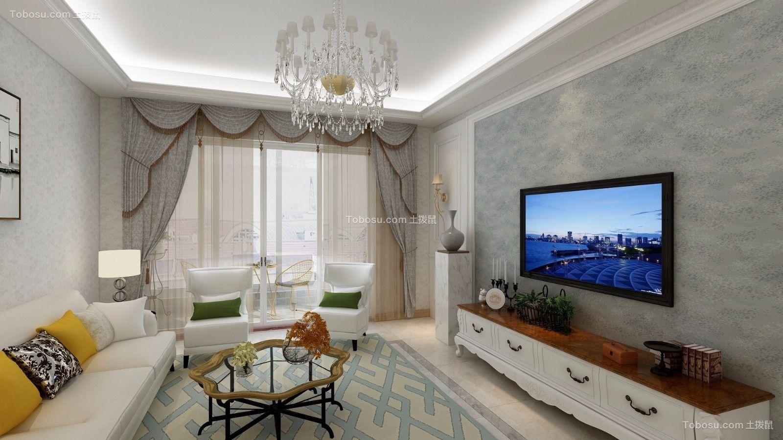 欧式风格112平米两室两厅新房装修效果图