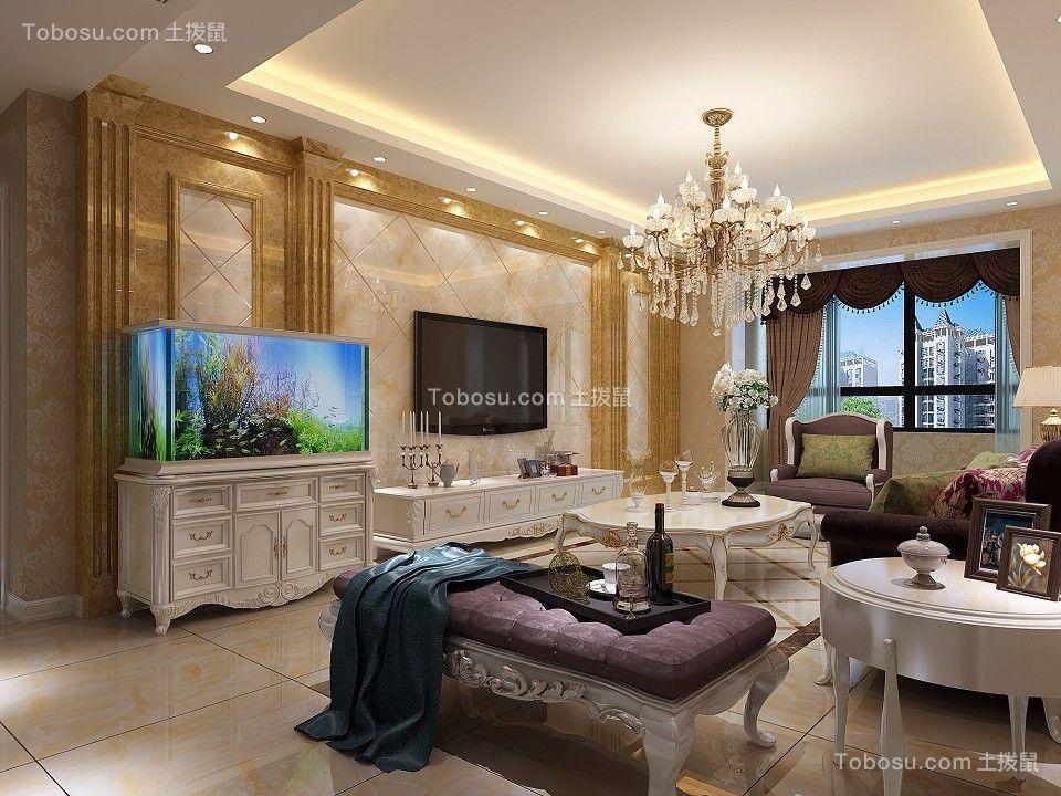 102平简欧风格三居室装修效果图