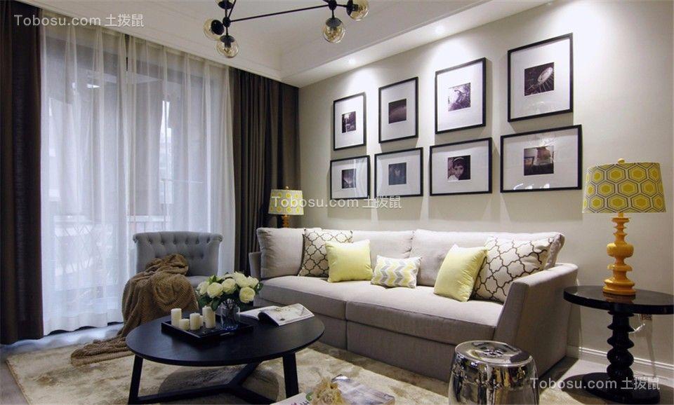 90平米简美风格三房套房装修案例
