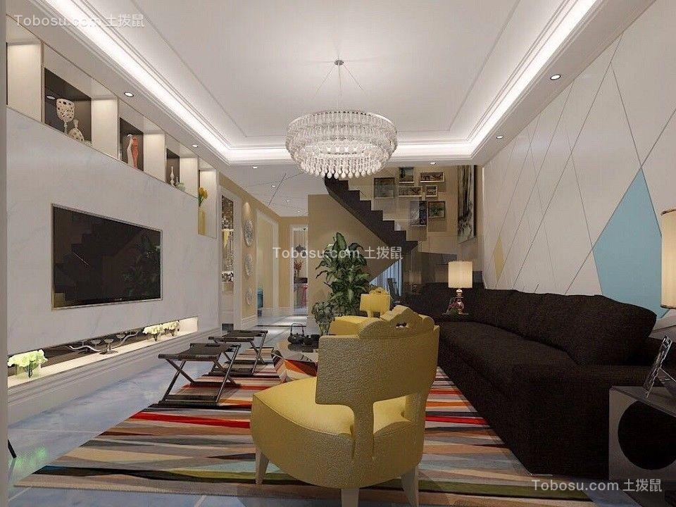 200平现代风格四居室装修效果图