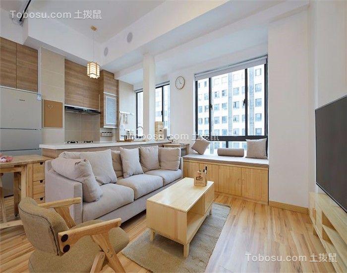 客厅 茶几_日式风格75平米两室两厅新房装修效果图