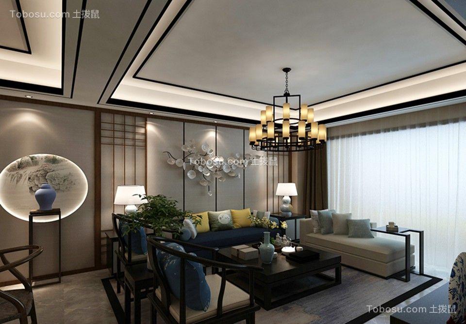 扬州清风名苑147平米中式风格效果图