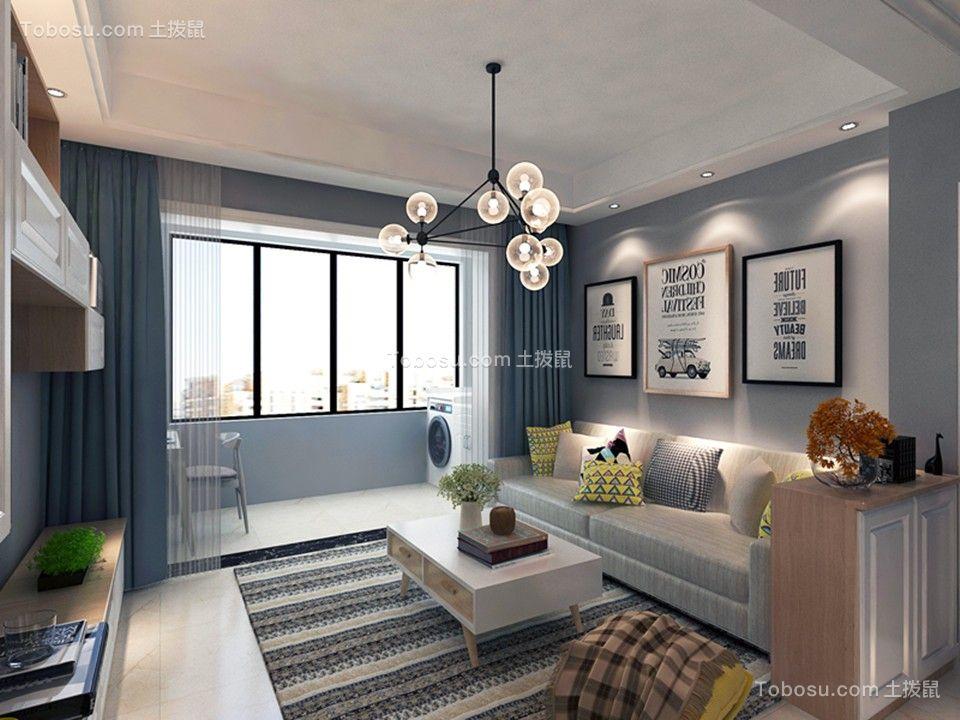 北欧风格65平米一居室室内装修效果图