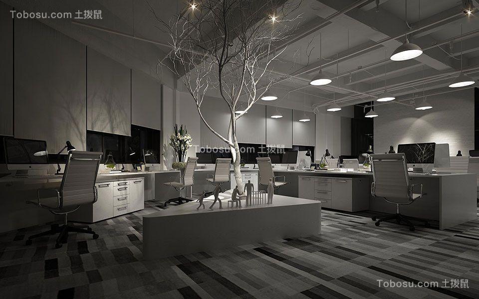 200平新世纪大厦现代简约风写字楼办公室装修效果图
