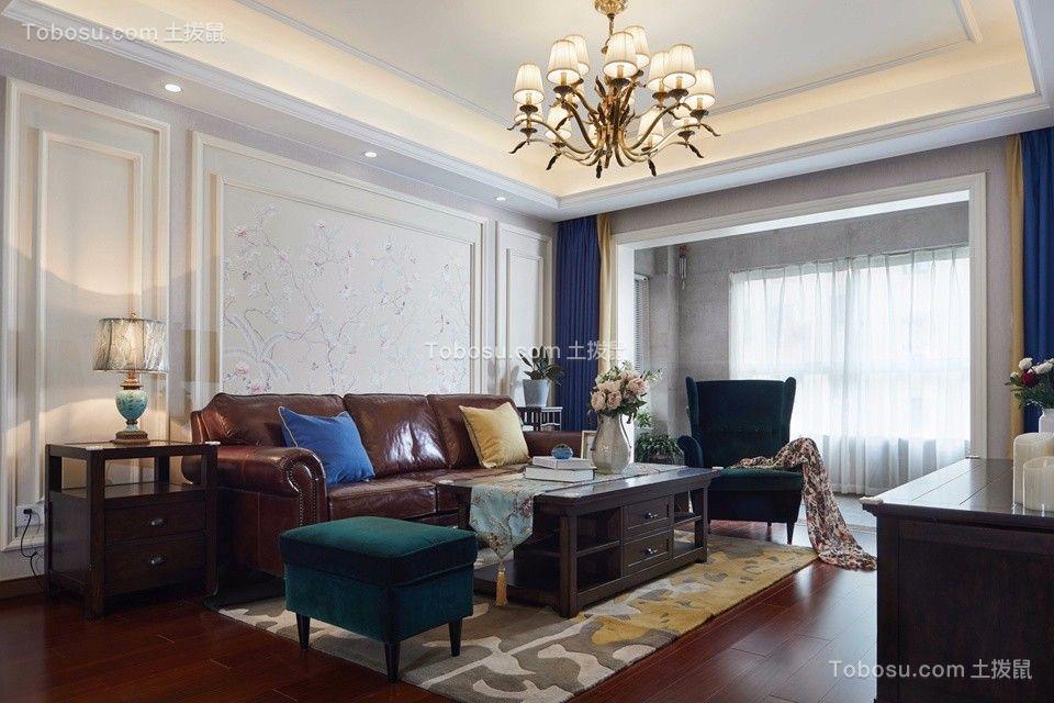 万科酩悦140平美式风格四居室实景案例效果图