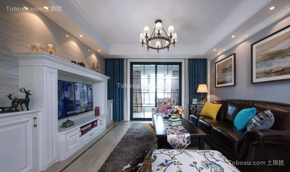 孔雀城二期140平米四室两厅两卫美式效果图