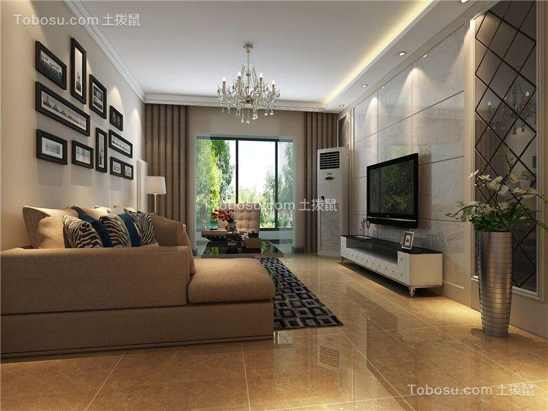 合肥东方蓝海130平现代简约风格四居室装修案例效果图