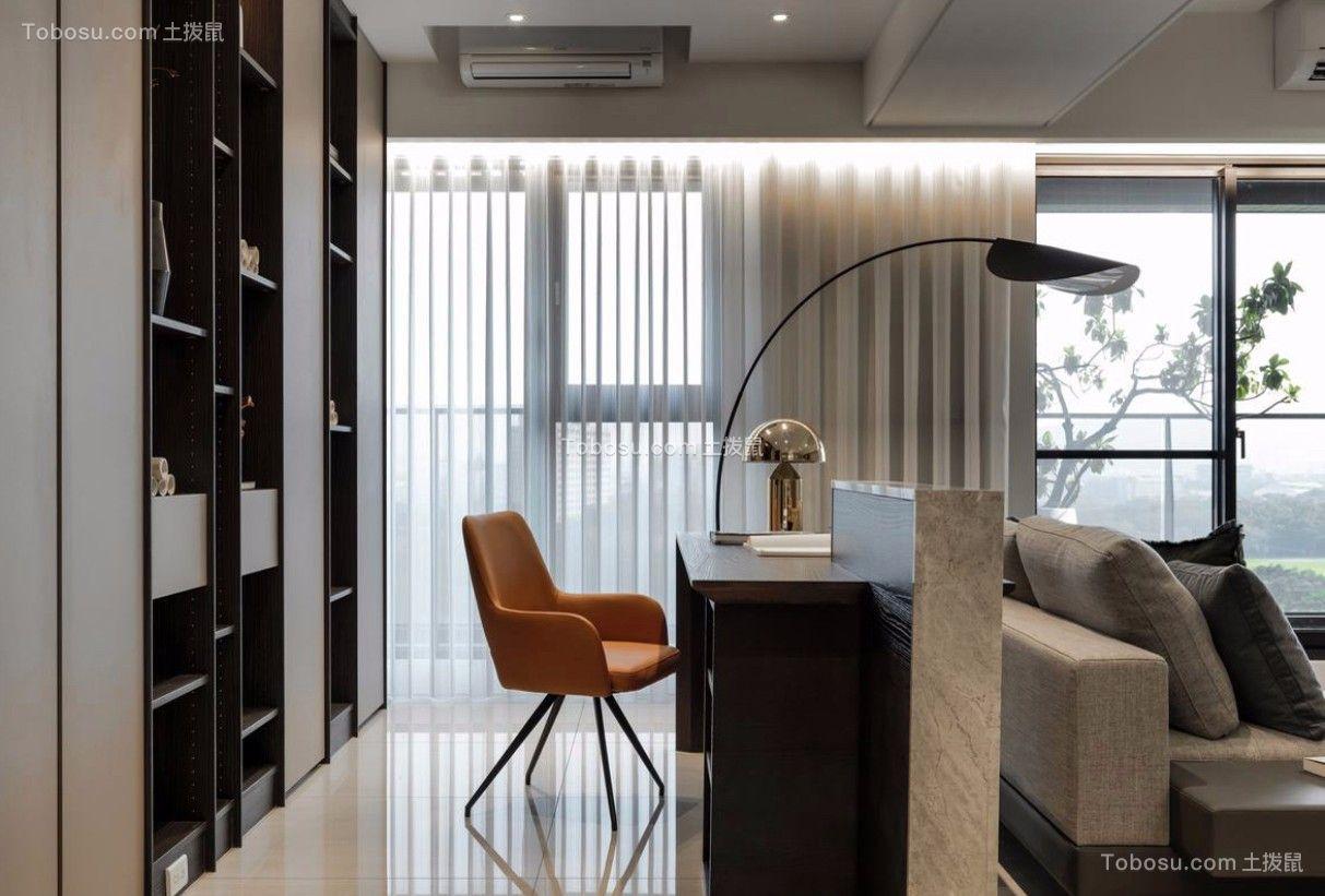 客厅白色书架北欧风格装潢效果图