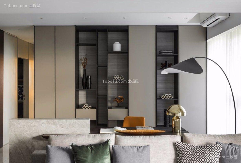 客厅白色沙发北欧风格装饰图片