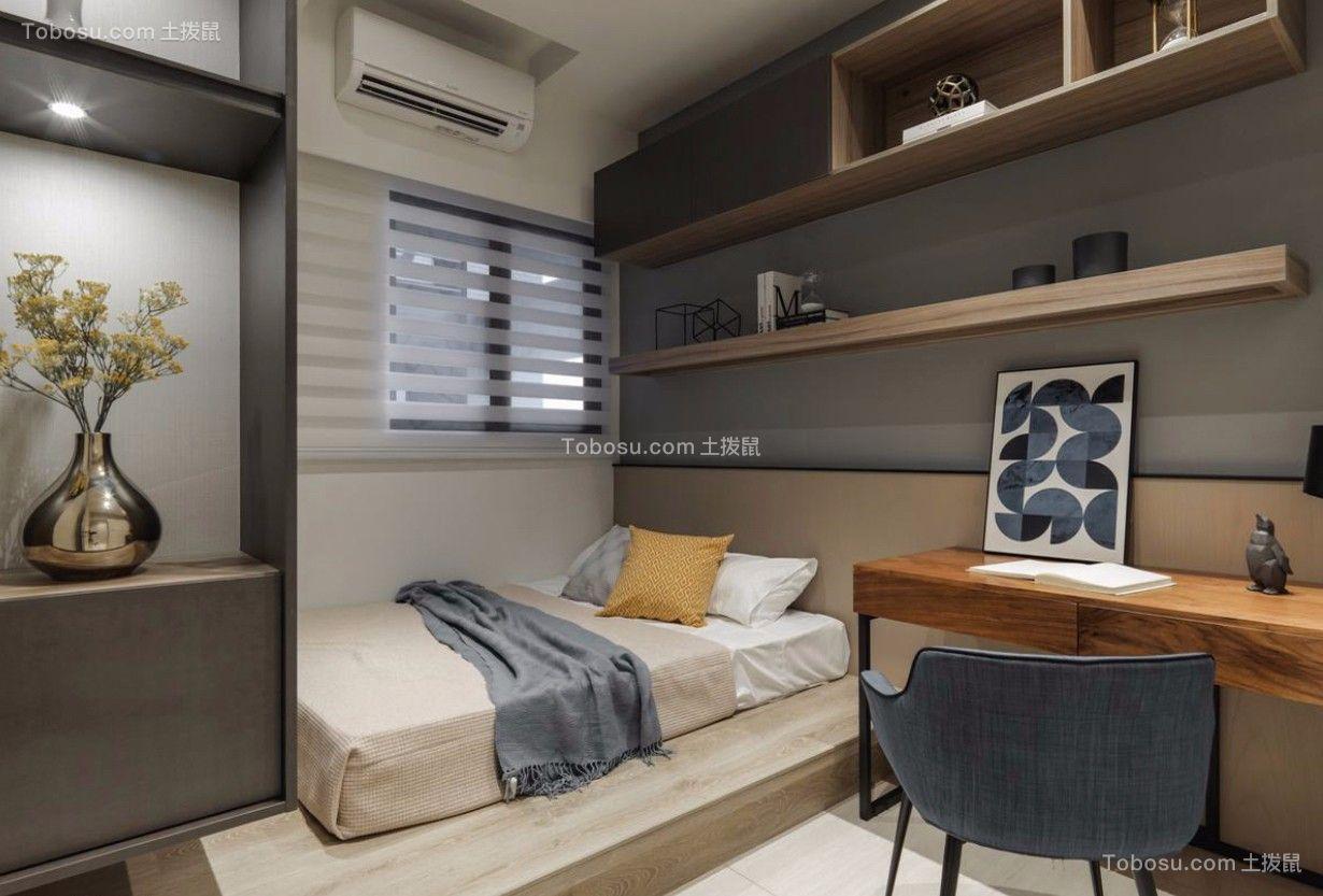 卧室白色榻榻米北欧风格装潢图片