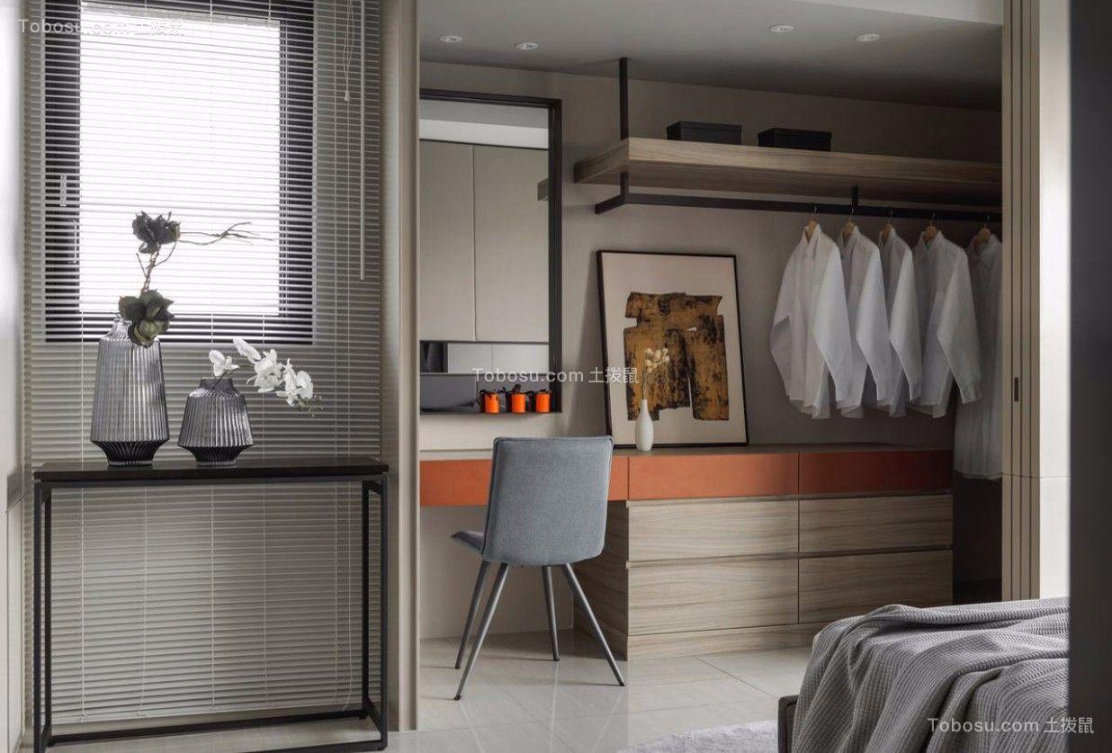 卧室白色书桌北欧风格装修设计图片