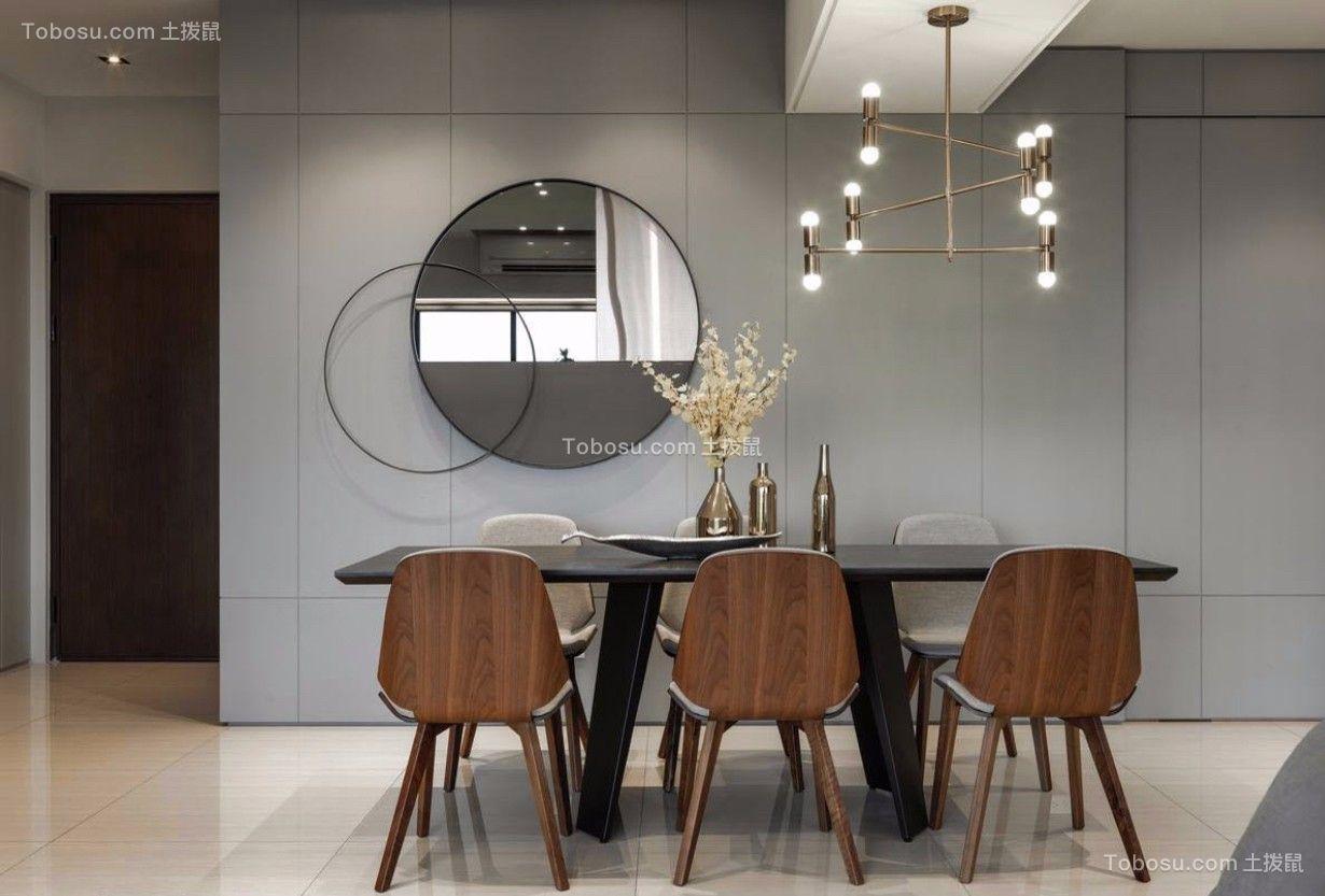 餐厅黑色餐桌北欧风格装饰设计图片